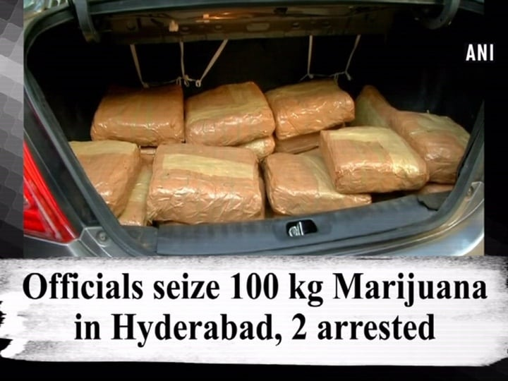 Officials seize 100 kg Marijuana in Hyderabad, 2 arrested