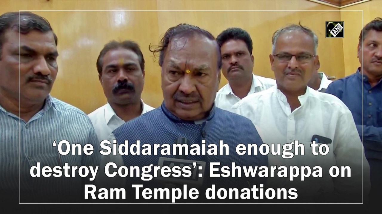 'One Siddaramaiah enough to destroy Congress': Eshwarappa on Ram Temple donations