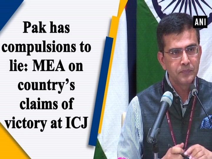 Pak has compulsions to lie: MEA on country's claims of victory at ICJ