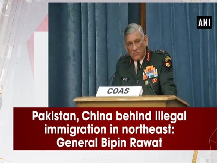 Pakistan, China behind illegal immigration in northeast: General Bipin Rawat