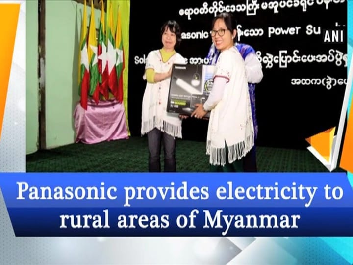 Panasonic provides electricity to rural areas of Myanmar