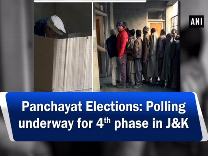 Panchayat Elections: Polling underway for 4th phase in JandK