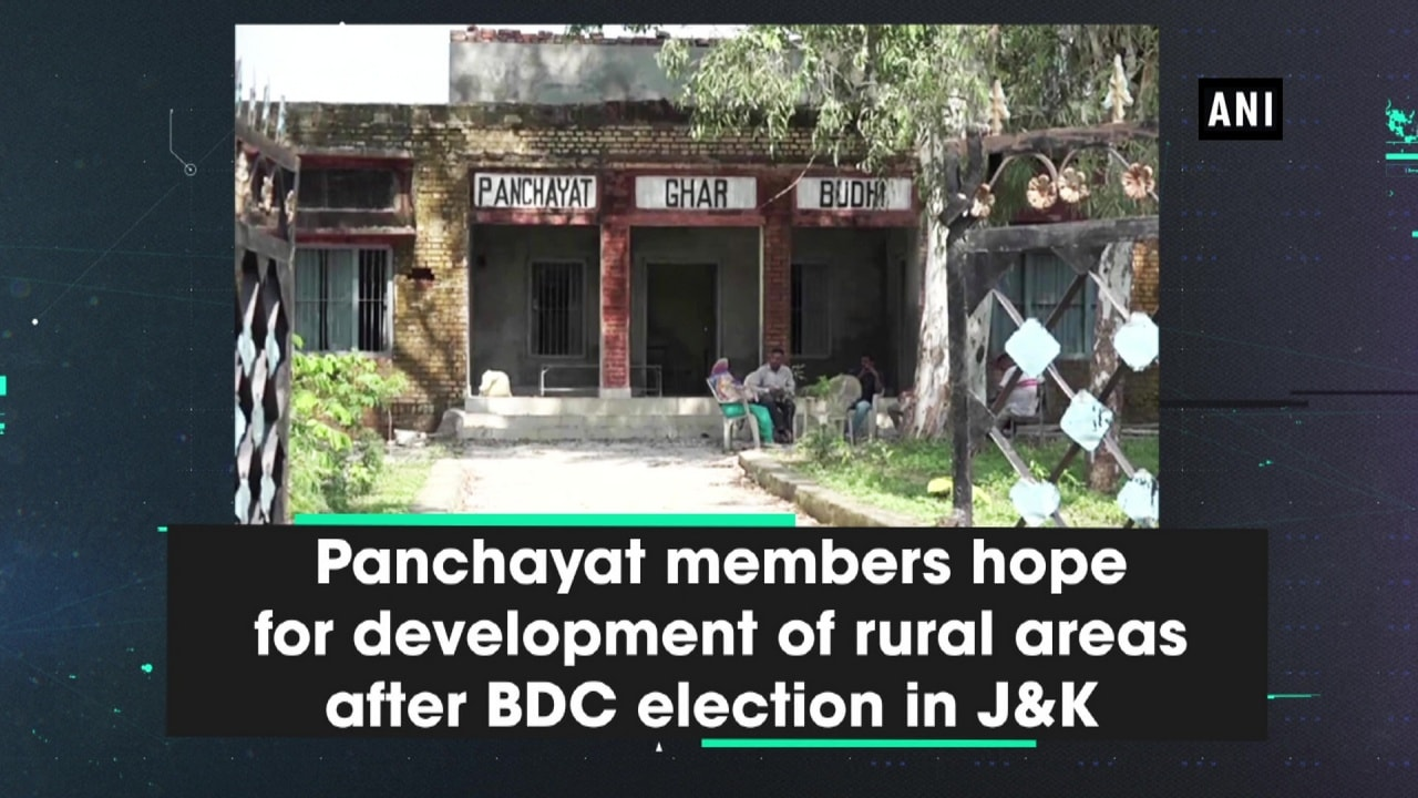 Panchayat members hope for development of rural areas after BDC election in J-K