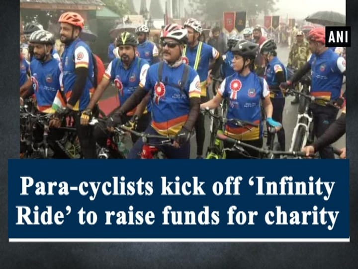 Para-cyclists kick off 'Infinity Ride' to raise funds for charity