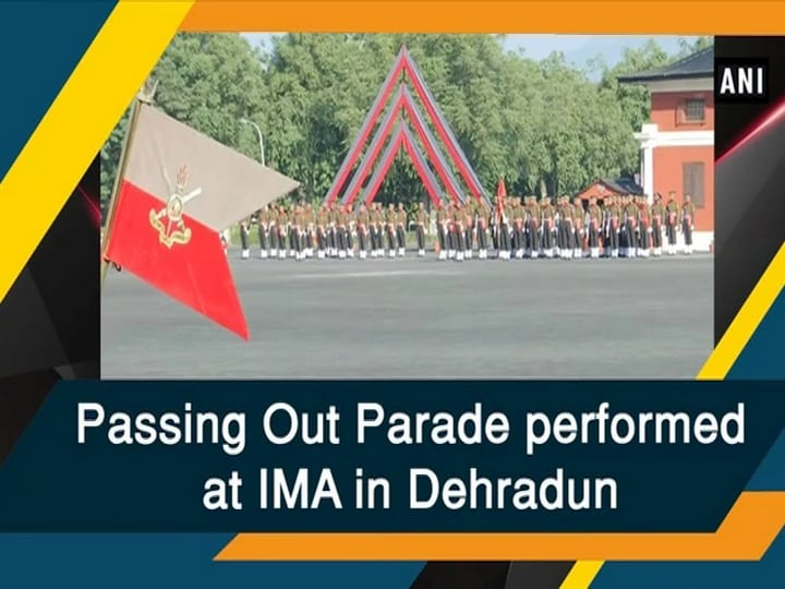 Passing Out Parade performed at IMA in Dehradun