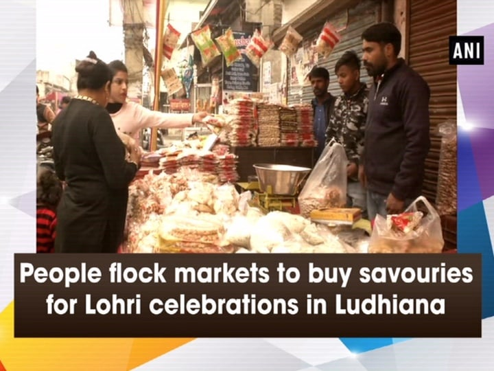 People flock markets to buy savouries for Lohri celebrations in Ludhiana