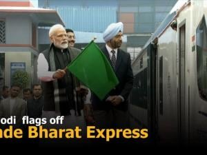 PM Modi  flags off Vande Bharat Express