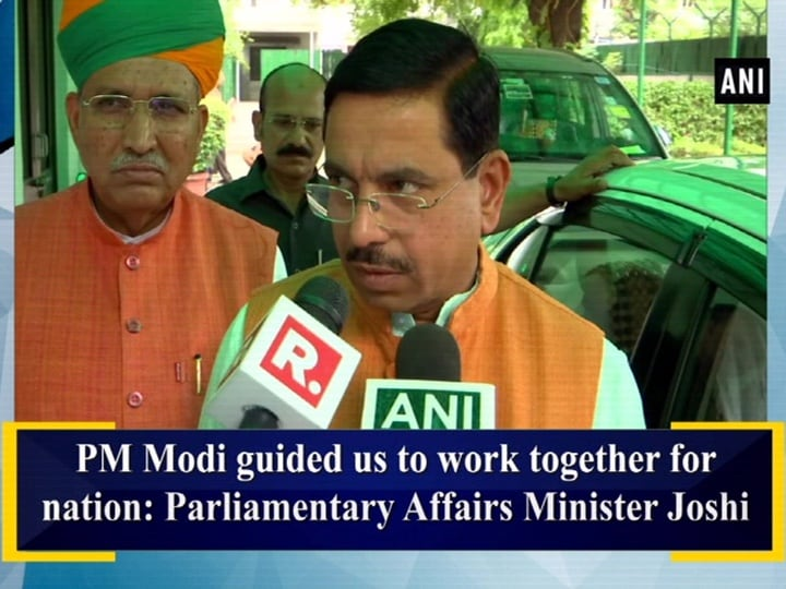 PM Modi guided us to work together for nation: Parliamentary Affairs Minister Joshi