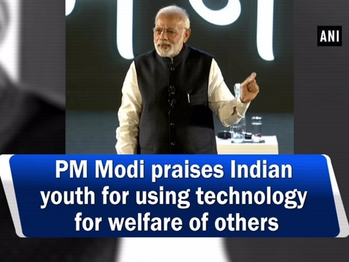 PM Modi praises Indian youth for using technology for welfare of others