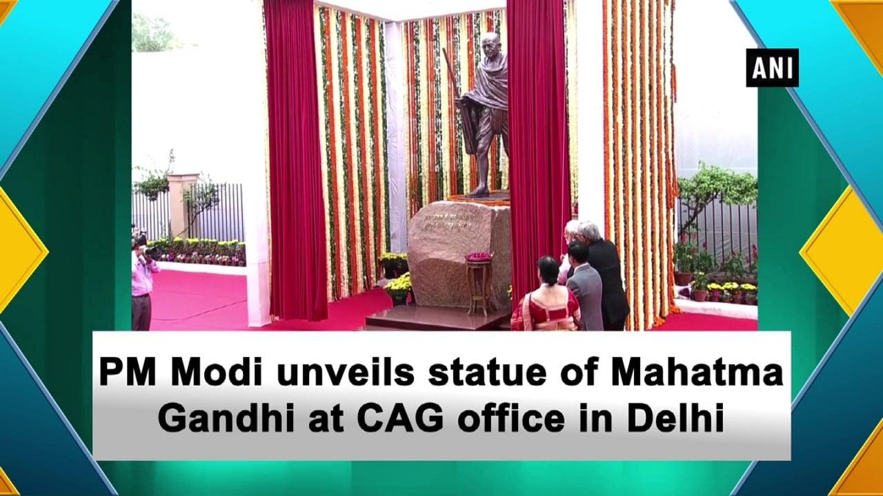 PM Modi unveils statue of Mahatma Gandhi at CAG office in Delhi
