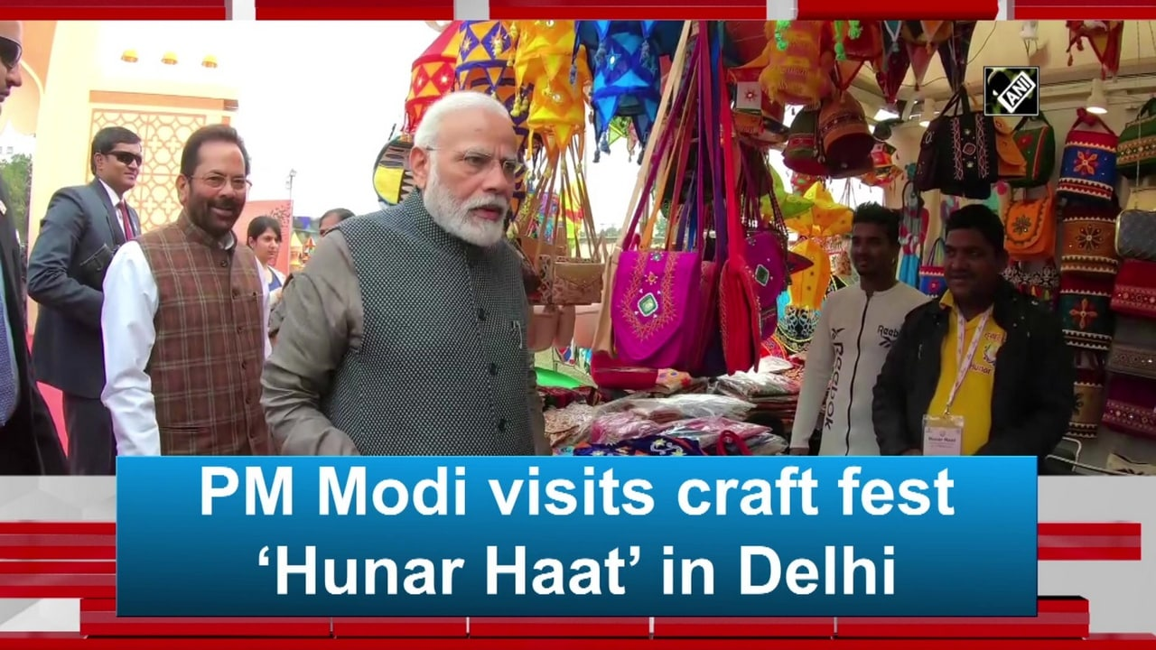 PM Modi visits craft fest 'Hunar Haat' in Delhi