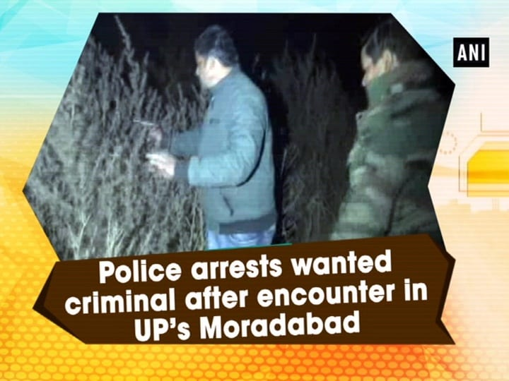 Police arrests wanted criminal after encounter in UP's Moradabad