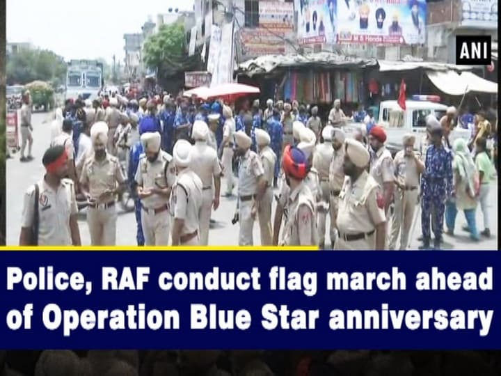 Police, RAF conduct flag march ahead of Operation Blue Star anniversary