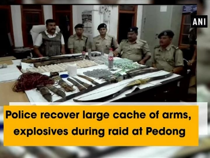 Police recover large cache of arms, explosives during raid at Pedong