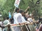 Police use water cannons to disperse NSUI protestors in Chandigarh