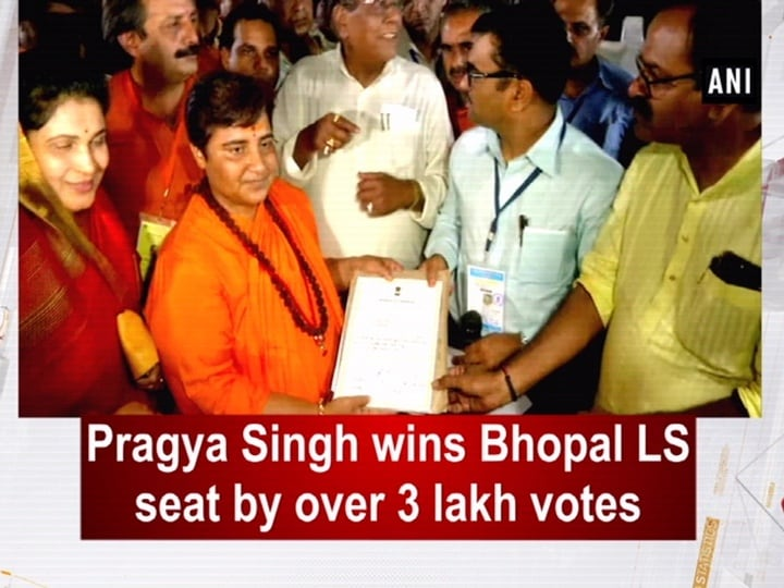 Pragya Singh wins Bhopal LS seat by over 3 lakh votes
