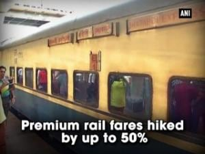Premium rail fares hiked by up to 50%