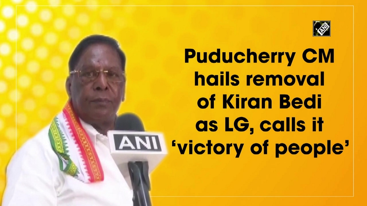 Puducherry CM hails removal of Kiran Bedi as LG, calls it 'victory of people'