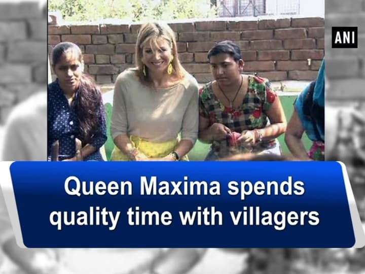 Queen Maxima spends quality time with villagers