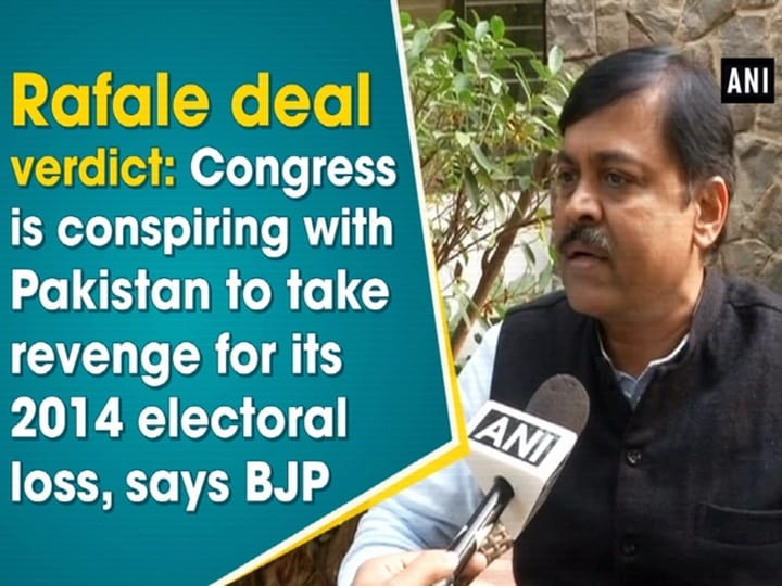 Rafale deal verdict: Congress is conspiring with Pakistan to take revenge for its 2014 electoral loss, says BJP