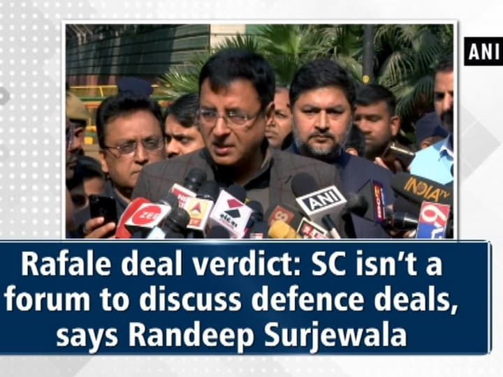 Rafale deal verdict: SC isn't a forum to discuss defence deals, says