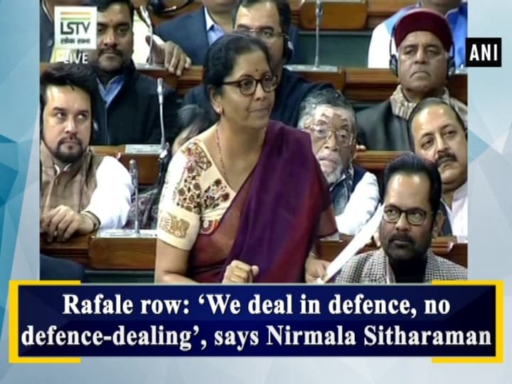 Rafale row: 'We deal in defence, no defence-dealing', says Nirmala Sitharaman
