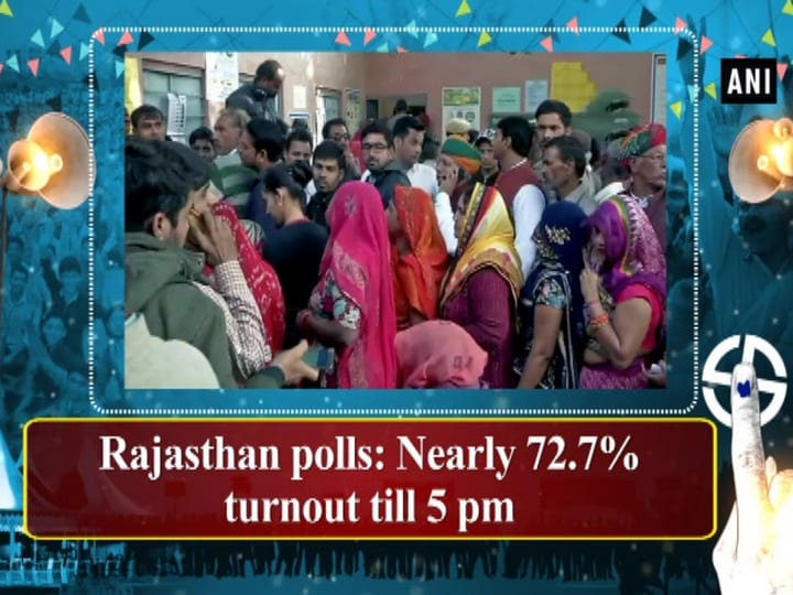 Rajasthan polls: Nearly 72.7% turnout till 5 pm