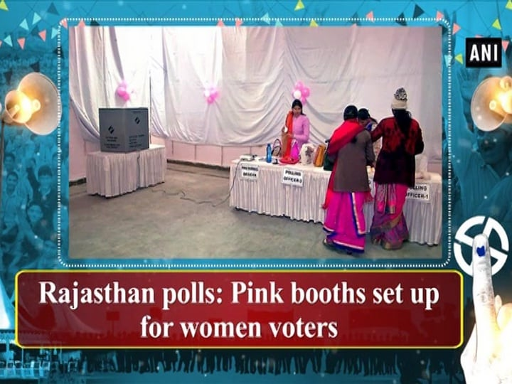 Rajasthan polls: Pink booths set up for women voters