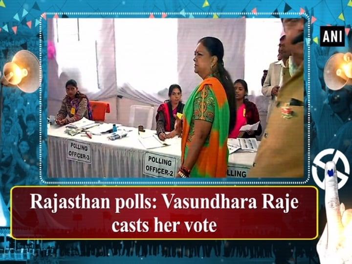 Rajasthan polls: Vasundhara Raje casts her vote