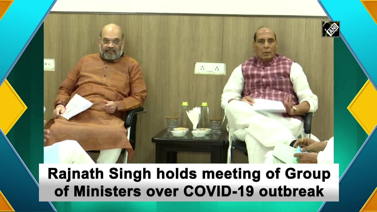 Rajnath Singh holds meeting of Group of Ministers over COVID-19 outbreak