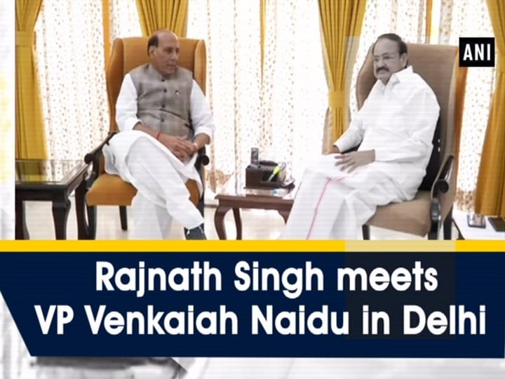 Rajnath Singh meets VP Venkaiah Naidu in Delhi