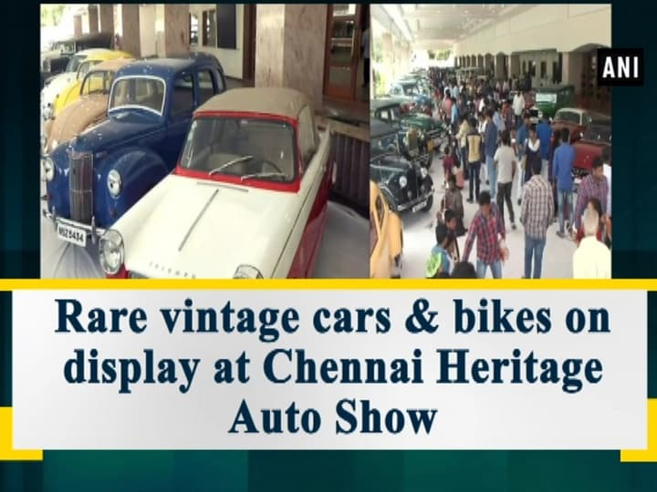 Rare vintage cars and bikes on display at Chennai Heritage Auto Show