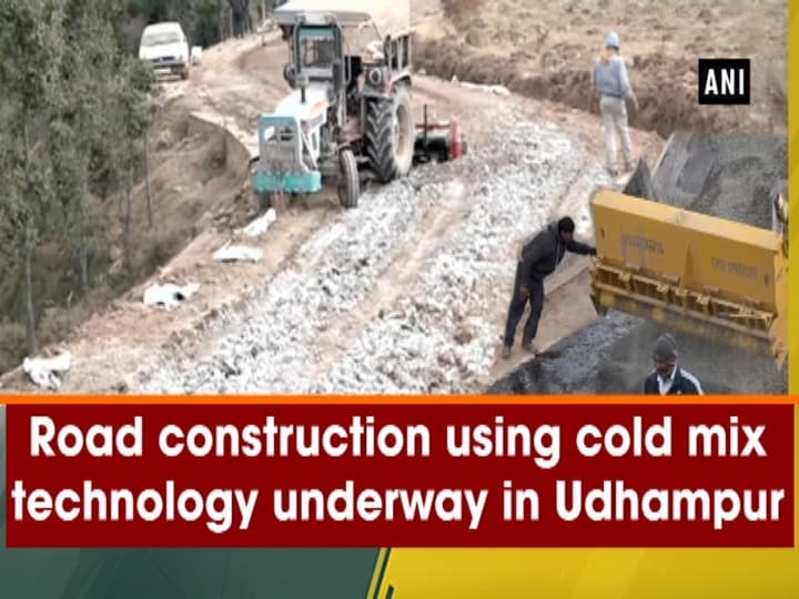 Road construction using cold mix technology underway in Udhampur