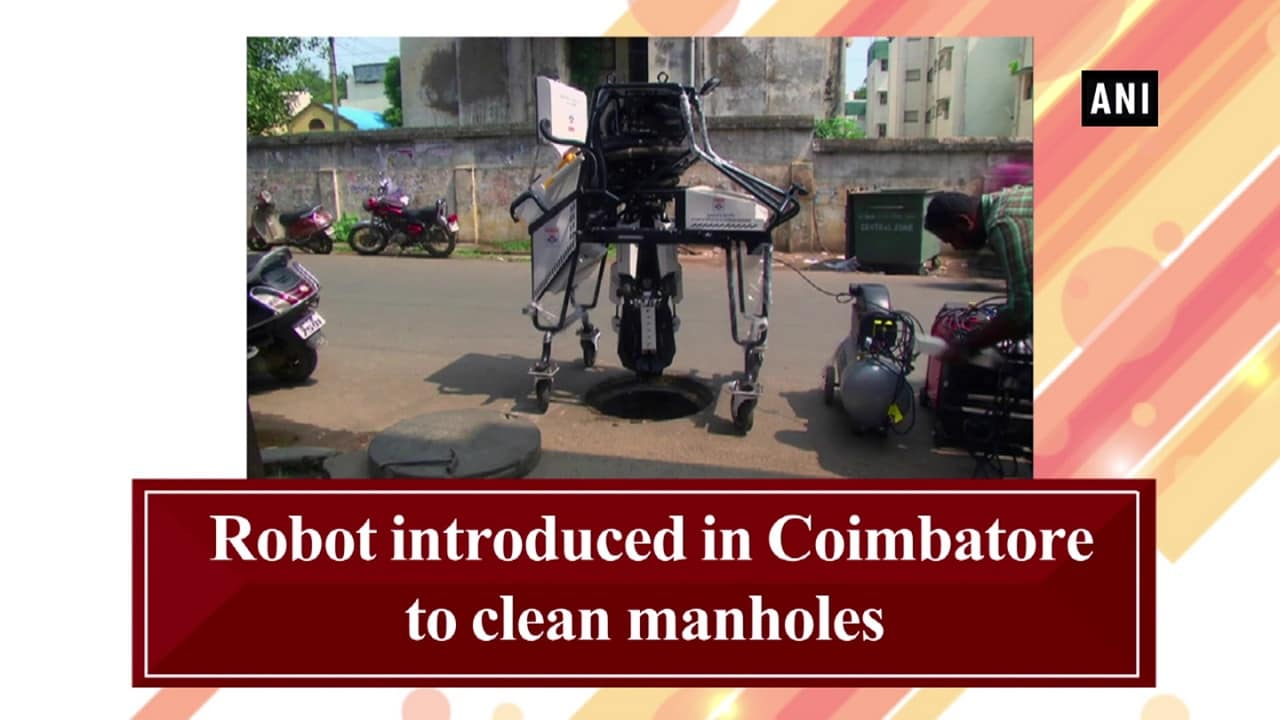 Robot introduced in Coimbatore to clean manholes