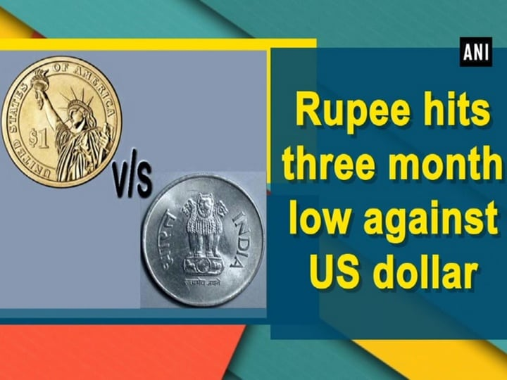Rupee hits three month low against US dollar