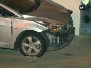 Russian embassy's speeding car rams into stationary car, injures four
