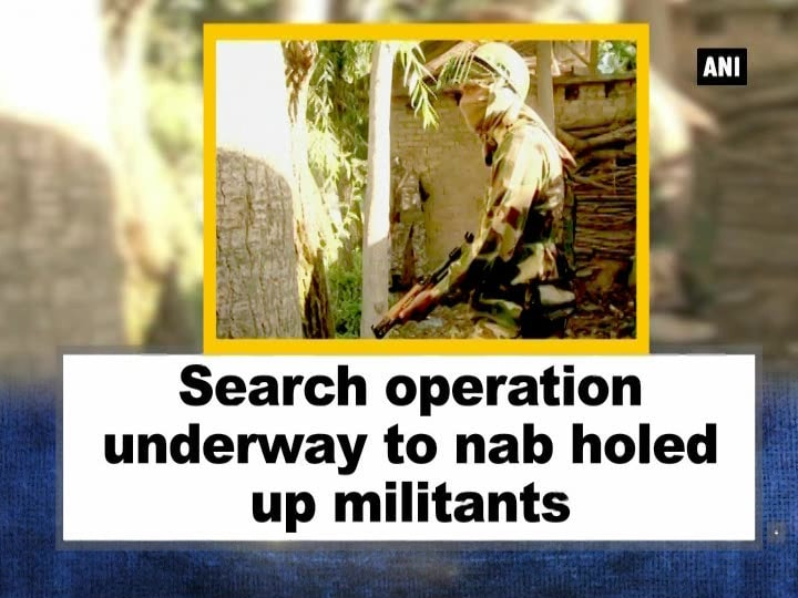 Search operation underway to nab holed up militants