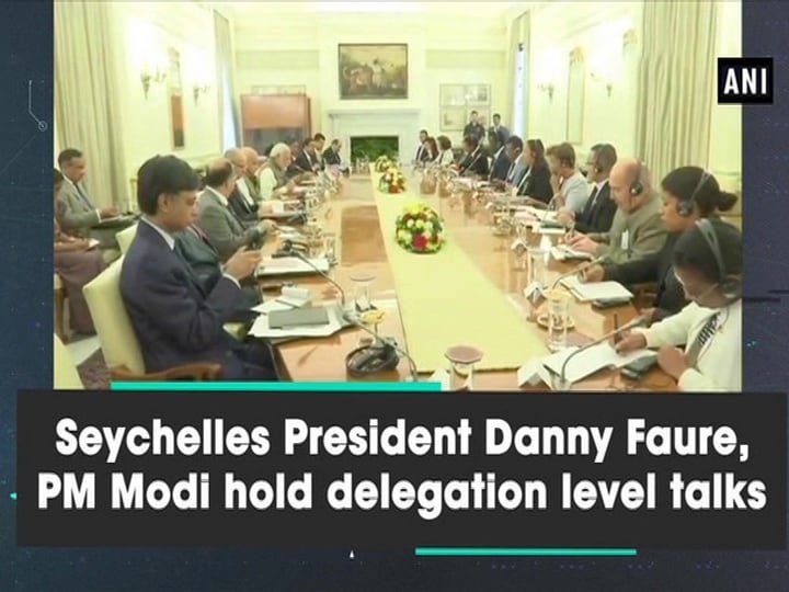 Seychelles President Danny Faure, PM Modi hold delegation level talks
