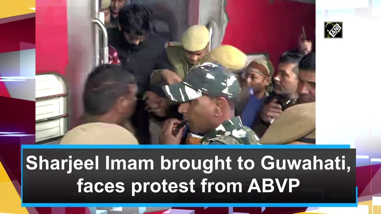 Sharjeel Imam brought to Guwahati, faces protest from ABVP