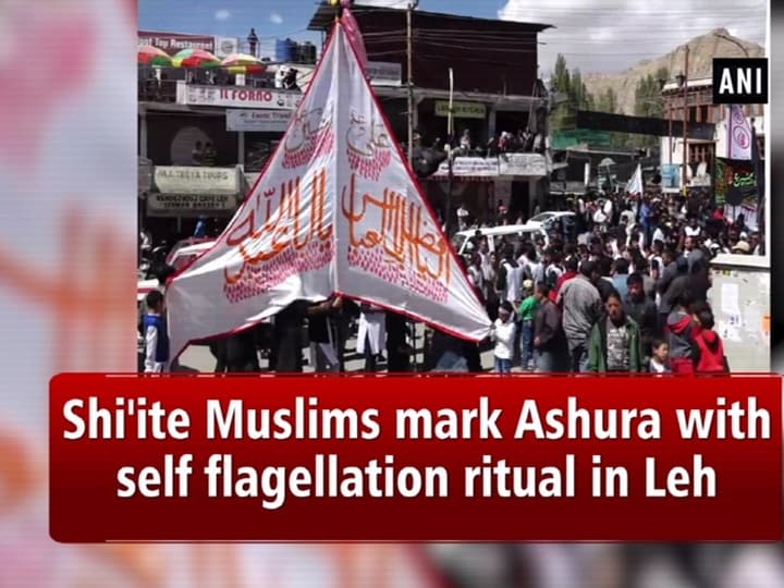 Shi'ite Muslims mark Ashura with self flagellation ritual in Leh