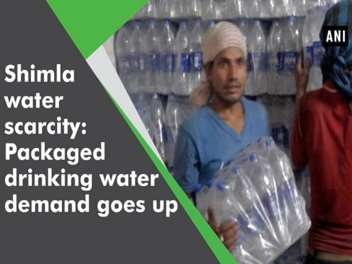 Shimla water scarcity: Packaged drinking water demand goes up