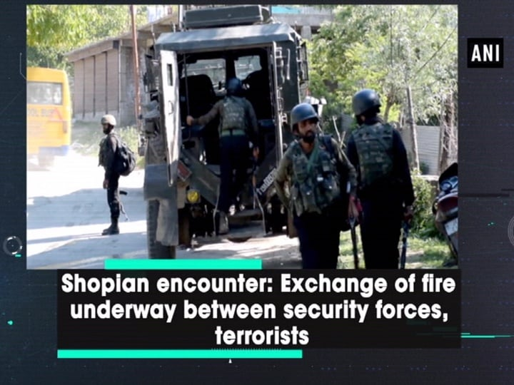 Shopian encounter: Exchange of fire underway between security forces, terrorists