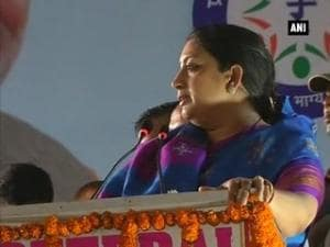 Smriti Irani hits at Congress, questions years' long rail line promised in Amethi