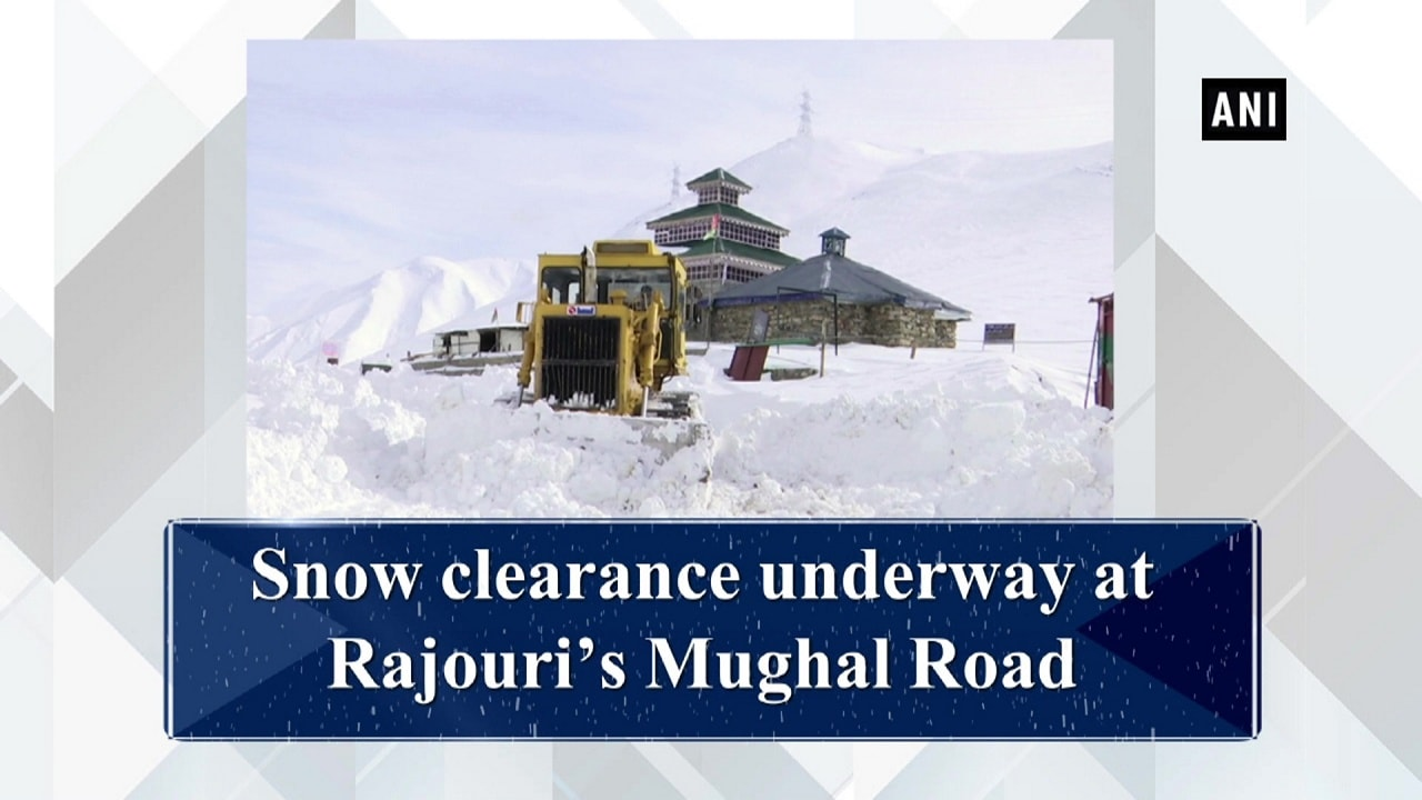 Snow clearance underway at Rajouri's Mughal Road