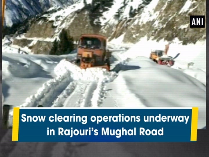 Snow clearance operations on the Rajouri Mughal Road