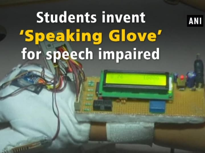 Students invent 'Speaking Glove' for speech impaired