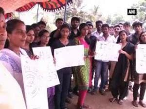 Students protest, demand justice in Kerala rape case