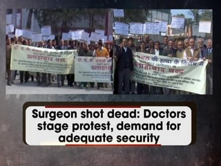 Surgeon shot dead: Doctors stage protest, demand for adequate security