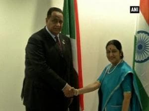 Sushma Swaraj meets her counterparts from African nations