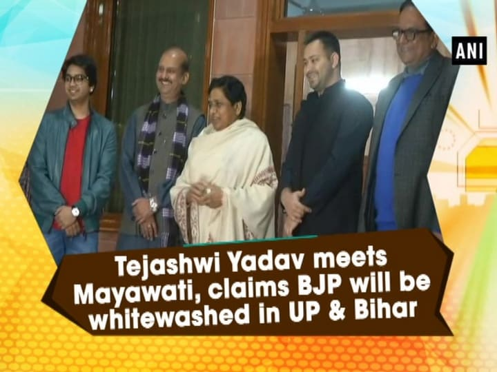 Tejashwi Yadav meets Mayawati, claims BJP will be whitewashed in UP and Bihar